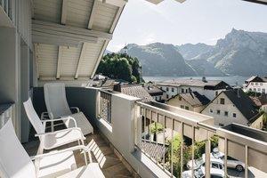 Blick vom Balkon auf den Traunsee