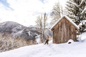 Schneeschuhwanderung am Traunsee