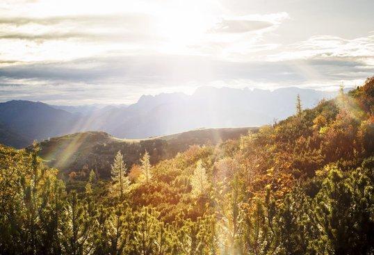 Wandern im Herbst am Feuerkogel