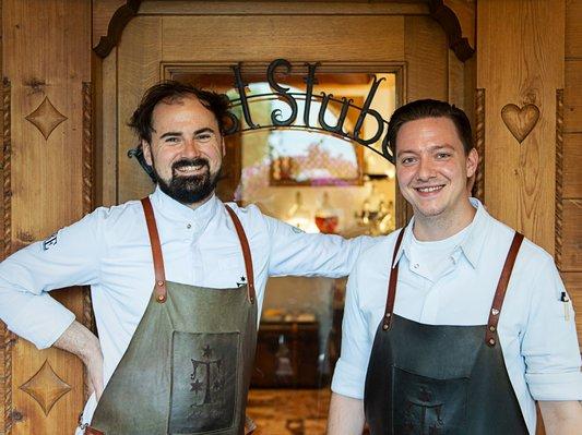 Executive Chef Lukas Nagl mit Poststuben Küchenchef Stefan Griessler