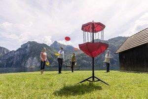 Frisbee werfen in Traunkirchen