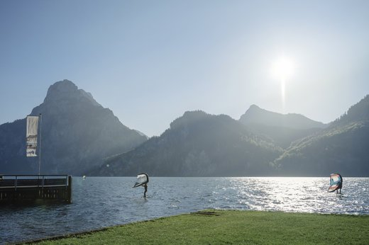Traumhafte Voraussetzungen für Windsurfing